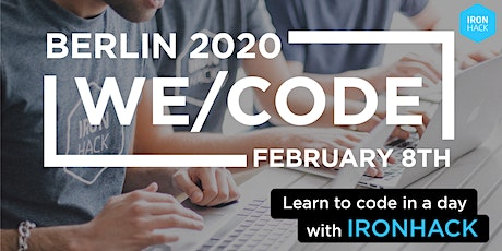 WE/CODE Ironhack Berlin - Learn to Code in 1 Day! tickets