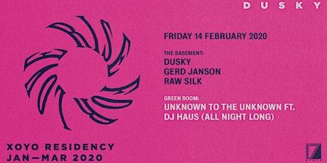 Dusky, Gerd Janson, DJ Haus (All Night) & Raw Silk tickets