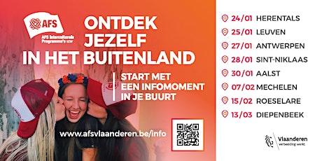 Oriënterend Gesprek op de regionale AFS-infoavond in Antwerpen tickets