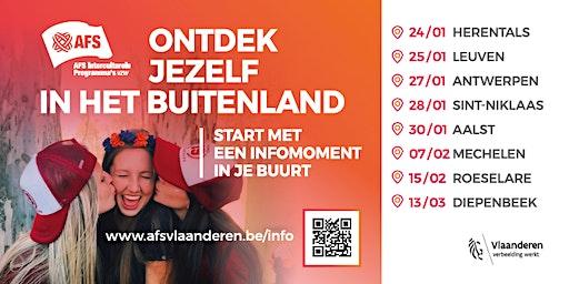 Oriënterend Gesprek op de regionale AFS-infoavond in Antwerpen