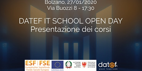 DATEF IT SCHOOL OPEN DAY - Presentazione dei corsi finanziati da FSE biglietti