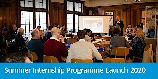 Summer Internships - Programme Launch