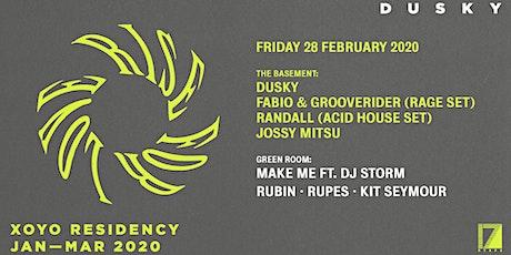 Dusky, Fabio & Grooverider, Randall (Acid set), Jossy Mitsu & Make Me tickets
