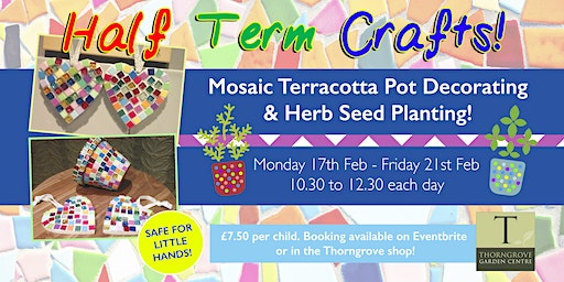 Half Term Crafts - Pot Decorating & Seed Planting!