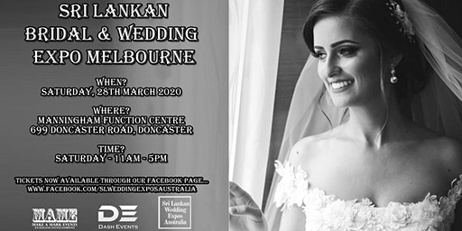 Sri Lankan Bridal & Wedding Expo Melbourne - March 2020