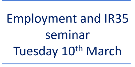 Employment and IR35 seminar tickets