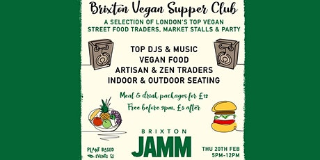 The Vegan Supper Club tickets