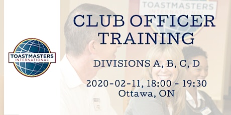 OTT Club Officer Training tickets