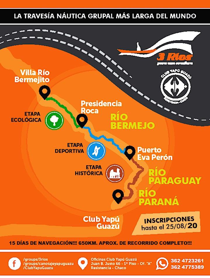 """Imagen de 3 RIOS PARA UNA AVENTURA 2020 EDICIÓN Nº30 """"HONOR A LA FAMILIA CABRERA"""""""