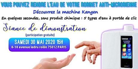 Vous pouvez rendre l'eau du robinet anti-microbienne ? Découvrez la machine Kangen - Samedi 30 mai 2020 Paris 15H tickets