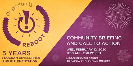 Opportunity Reboot Community Briefing and Call to Action tickets
