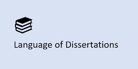 Language of Dissertations tickets