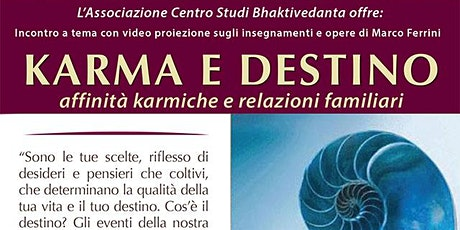 Karma e Destino - affinità karmiche e relazioni familiari biglietti