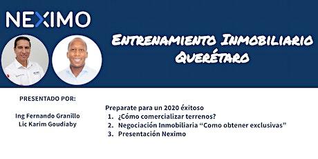 Entrenamiento Inmobiliario - Neximo  - QRO boletos