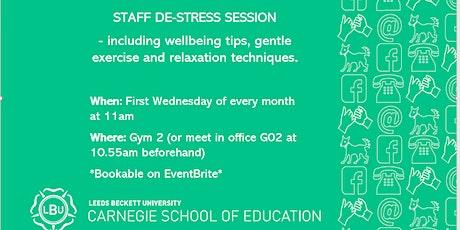 Carnegie School Of Education Staff de - stress session tickets