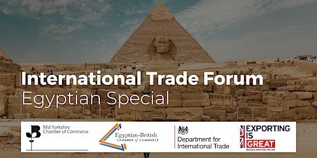 International Trade Forum - Egyptian Special tickets