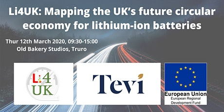 Li4UK: Mapping the UK's future circular economy for lithium-ion batteries tickets