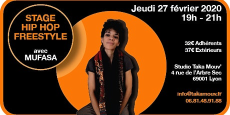 Stage Hip Hop Freestyle avec Mufasa au Studio Takamouv tickets
