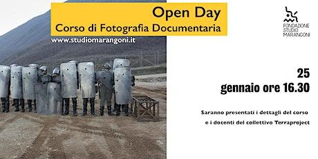 Open Day Corso di Fotografia Documentaria e Fotogiornalismo biglietti