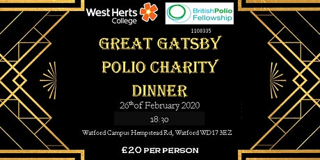 Great Gatsby Polio Charity Dinner tickets