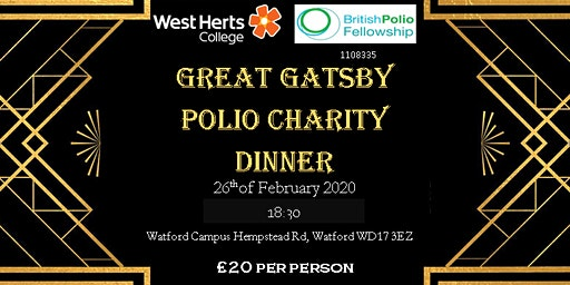 Great Gatsby Polio Charity Dinner