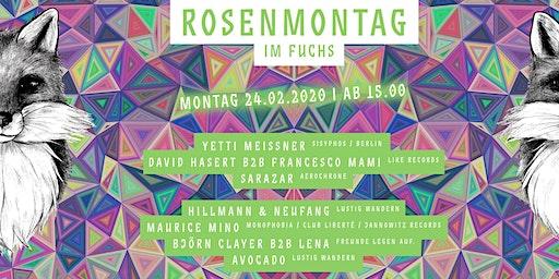 Rosenmontag im Fuchs mit Yetti Meissner (Sisyphos / Berlin) uvm.
