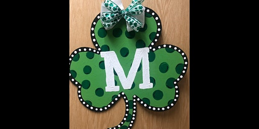 "22"" Wood Shamrock Door Sign Painting Party!"