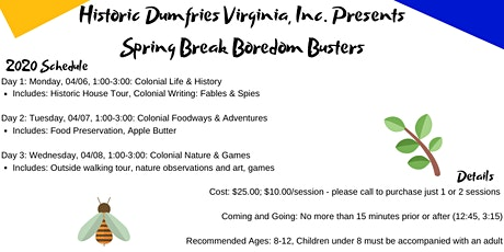 Spring Break Boredom Buster tickets