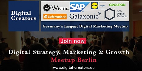 Germany's largest Digital Marketing Meetup - Strategy, Marketing & Growth Tickets