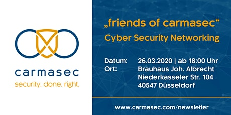 """5. """"friends of carmasec"""" Stammtisch - Cyber Security Networking tickets"""