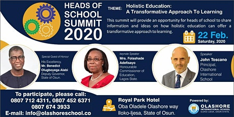 Heads of School Summit 2020 tickets