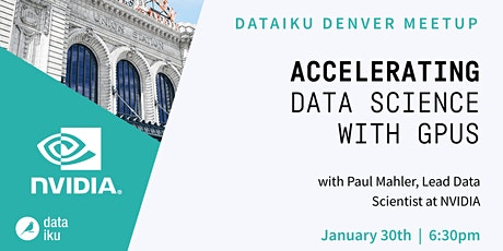 Accelerating Data Science with GPUs (feat. NVIDIA) tickets