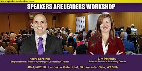 Public Speaking Training @Entrepreneurs Are Leaders 4 April 2020 Morning tickets
