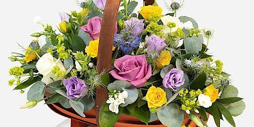 Make Your Own Spring Fresh Flower Basket including Afternoon Tea