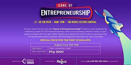 The Game of Entrepreneurship Bootcamp