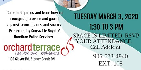 FREE Seminar on Senior Frauds and Scams tickets