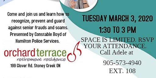 FREE Seminar on Senior Frauds and Scams