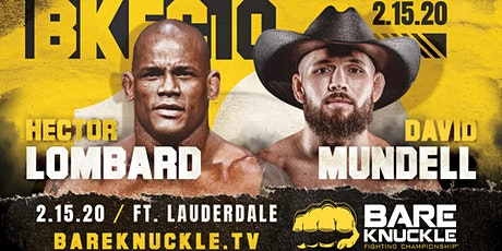 Bare Knuckle Fighting Championship 10 tickets
