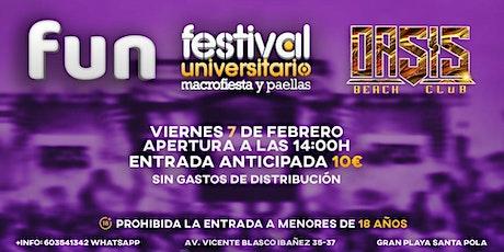 f.un. festival  universitario entradas