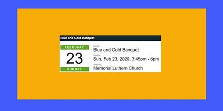 Blue and Gold Banquet tickets