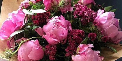 Hand Tied Peony Workshop at Margot Flowers