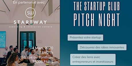 Startup Paris Club Pitch Night tickets
