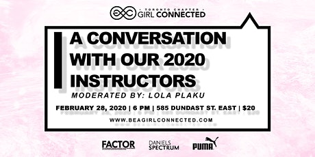 GIRL CONNECTED: A CONVERSATION WITH OUR 2020 INSTRUCTORS tickets