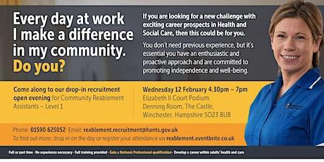 Community Reablement Recruitment Open Evening tickets