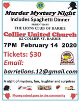 Murder Mystery Night with Dinner