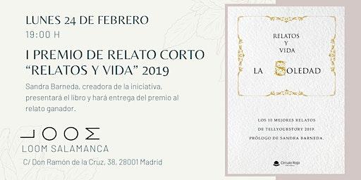 """Presentación del I PREMIO DE RELATO CORTO """"RELATOS Y VIDA"""" 2019"""