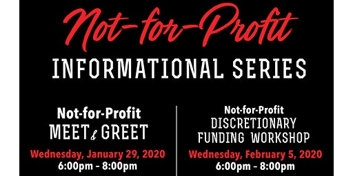 Not-for-Profit  Meet & Greet  2020 Funding Info Session