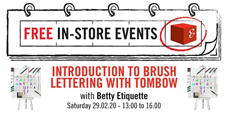 Introduction to Brush Lettering with Tombow tickets