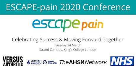 ESCAPE-pain 2020 Conference tickets