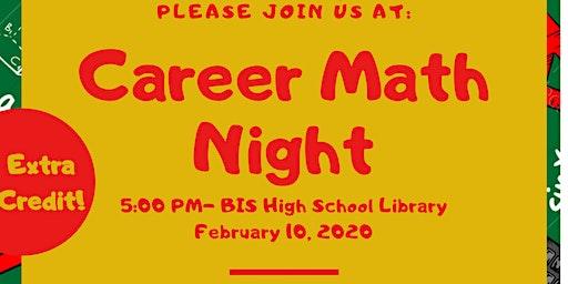Barbourville Elementary Career Math Night
